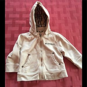 Other - Burberry baby hoodie hooded top